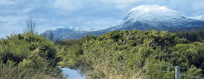 Early snow on Ben Nevis, from the Great Glen Way